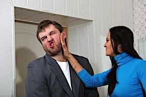 woman slaps man\\\'s face